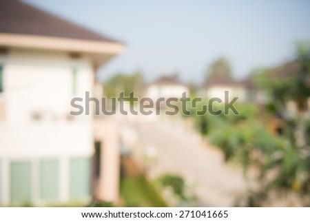 photo of blur housing estate - stock photo