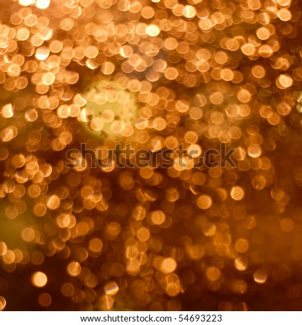 Photo of blurred Christmas lights at night. - stock photo