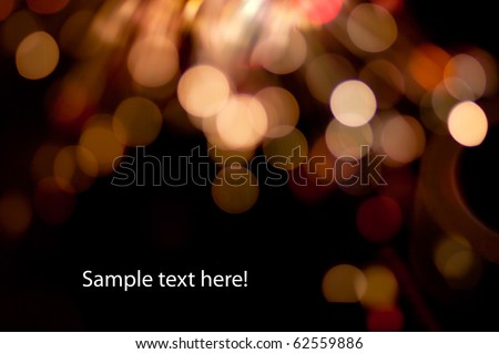 Photo of bokeh lights on black - stock photo