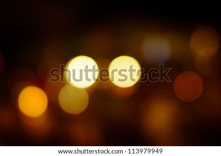 Photo of bokeh lights on black background - stock photo