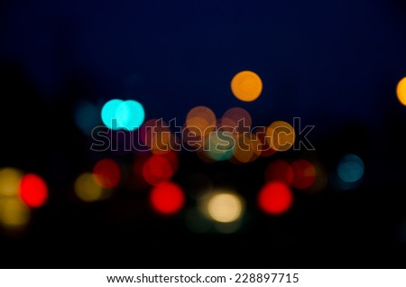 Photo Of Bokeh Lights / Street Lights Out Of Focus