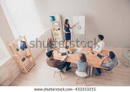 Photo of business concept. People sitting at conference training. They planning learning, coaching - stock photo
