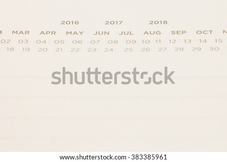 Photo of calendar notebook with space, selective focus - stock photo