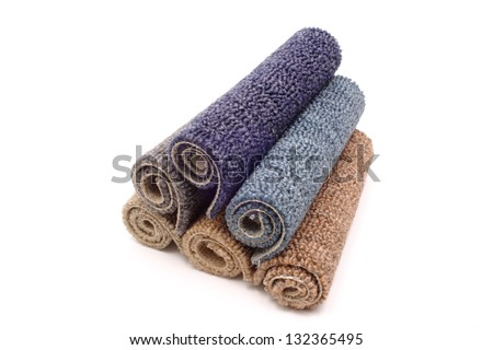 Photo of Carpets in a pile - stock photo