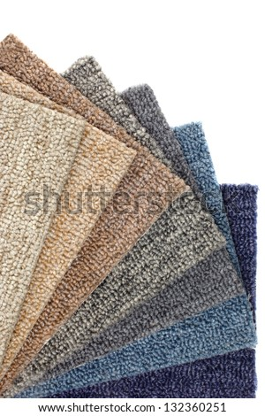 Photo of Catalog of colorful Carpets - stock photo