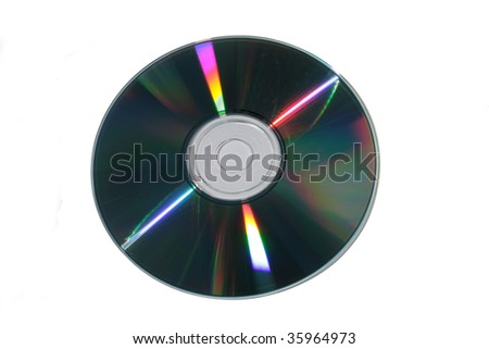 Photo of cd (dvd) disk on white background
