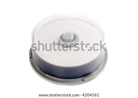 photo of  CDs in a box top view with cover - stock photo