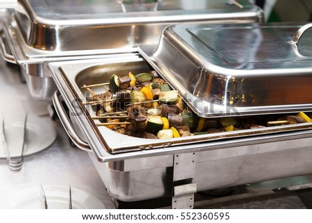 photo of chafing dish heater at banquet