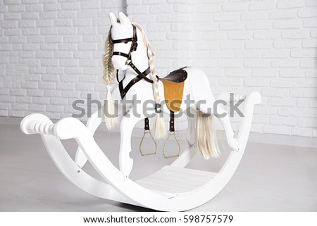 photo of children's horse swing
