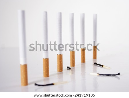 Photo of cigarettes with matches