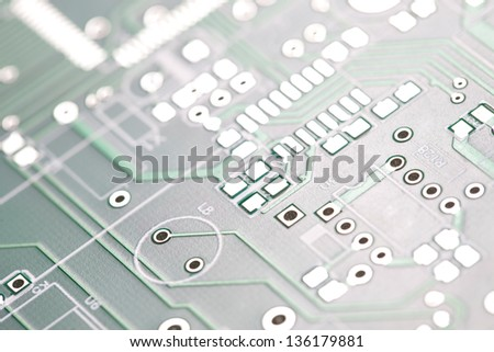 Photo Of Circuit Board In Macro. - stock photo