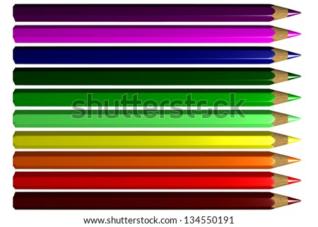 Photo of Colored pencils (3D) - stock photo
