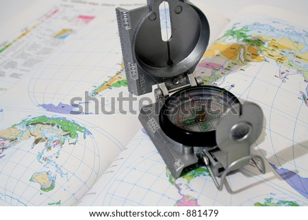 Photo of Compass with map