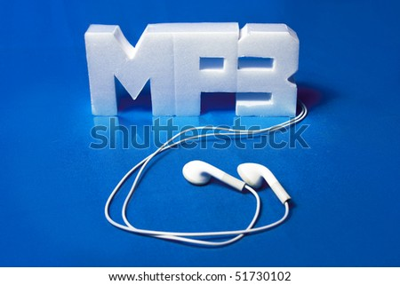 Photo of Concept of Mp3 player - stock photo