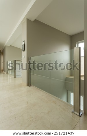 Photo of corridor inside modern apartment - stock photo