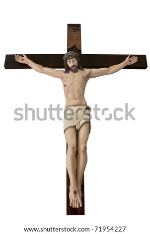 Photo of Crucifix , Statue of The crucified Jesus Christ - stock photo
