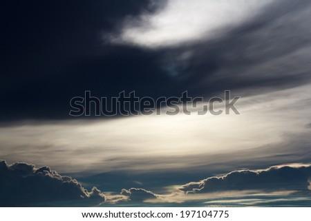 Photo of dark storm clouds before rain - stock photo