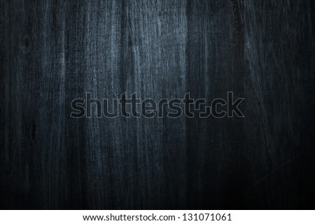 Photo of dark wood blue for texture or background - stock photo