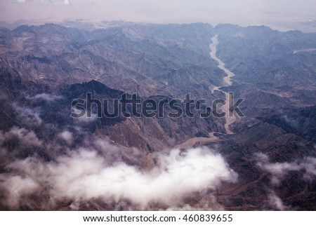 Photo of desert with dry and hot climate