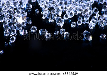 photo of diamonds on surface - stock photo