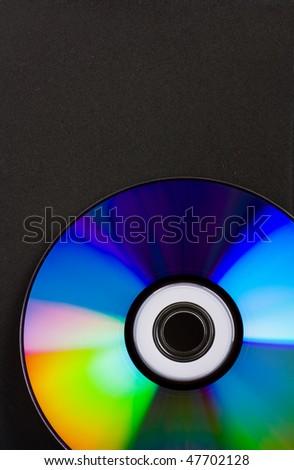 Photo of disk on black background - stock photo