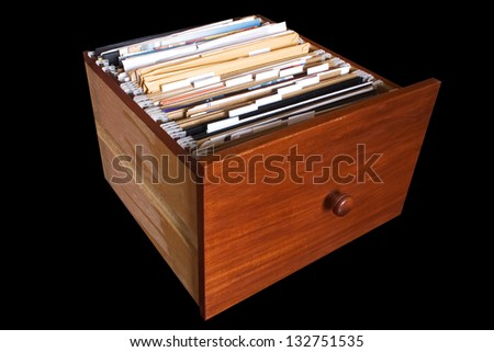 Photo of Documents drawer - stock photo