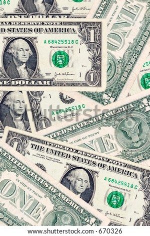 Photo of Dollar Bills.  Money Background