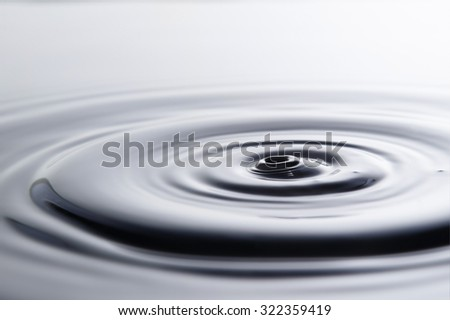 Photo of drop of water on black & white background - stock photo