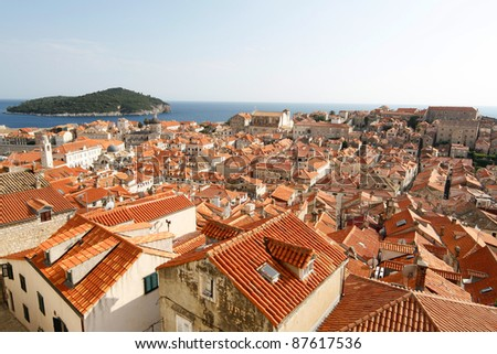 Photo of Dubrovnik city in Croatia