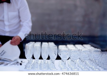 photo of empty wine glasses and champagne