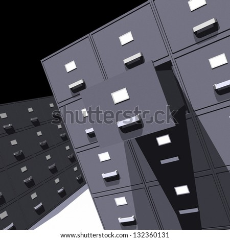 Photo of File cabinets - 3D - stock photo