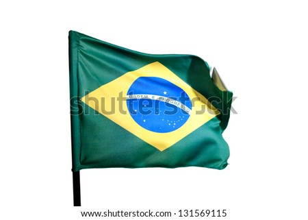 Photo of Flag of brazil - stock photo