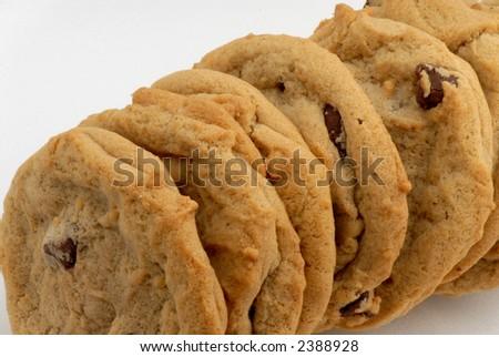 Photo of fresh chocolate chip cookies - stock photo