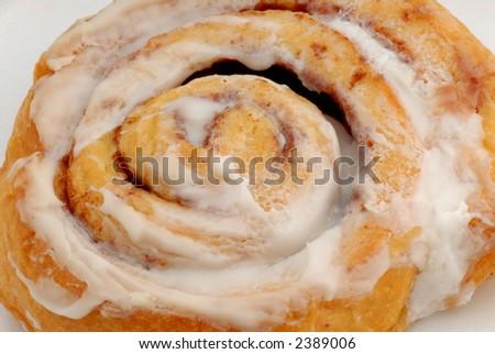 Photo of fresh cinnamon danish - stock photo