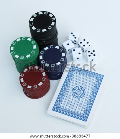 Photo of gambling related items - stock photo