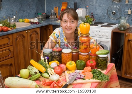 Photo of girl with vegetables