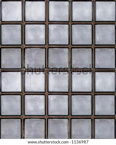 Photo of glass block wall - stock photo