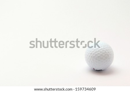 Photo of Golf Ball Object perfectly fits to various presentation purposes.