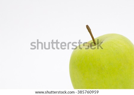 Photo of green apple menu and place for text