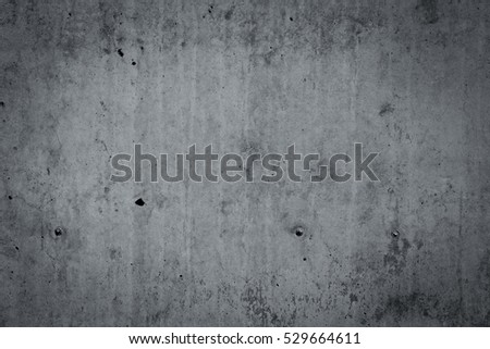 Photo of grey concrete wall  for texture background