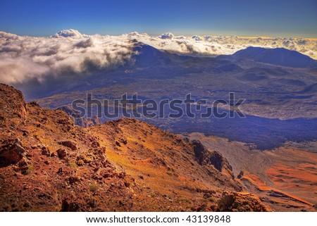 photo of Haleakala Crater, Maui, Hawaii - stock photo