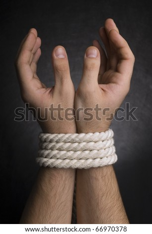 Photo of hands with a rope