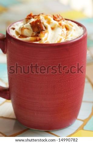 Photo of Iced Coffee Caramel - stock photo