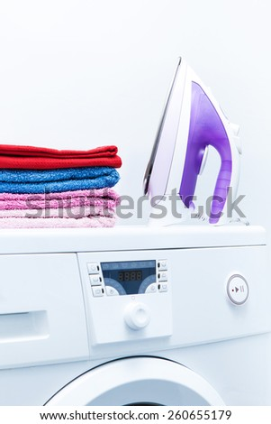 Photo of iron and of things in the Studio. - stock photo