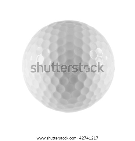 Photo of isolated golf ball. Included clipping path. - stock photo
