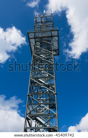 Photo of lookout tower installation in sunny day