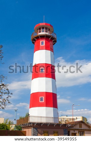 Photo of lookout tower look like lighthouse in Czech republic - stock photo