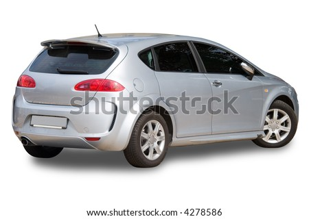photo of luxury high class expensive car isolated over white background - stock photo