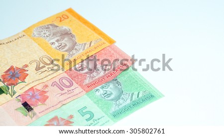 Photo of Malaysia Bank Notes.Selective focus and shallow depth of field.
