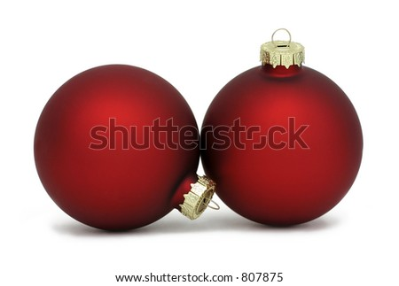 Photo of matte red Christmas balls